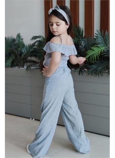 Riccotarz Kız Çocuk Stylish Lines Alt Üst Takım Gri